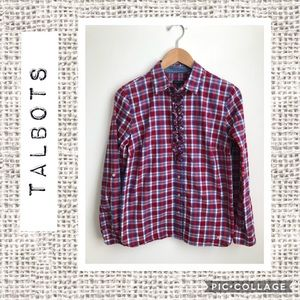Talbots Red and Blue Checked Button Down ❤️
